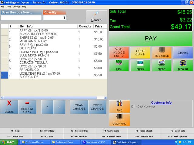 pcAmerica Cash Register Express   POS Software