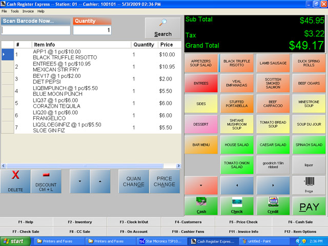Restaurant Pos Software Pcamerica Restaurant Pro Express